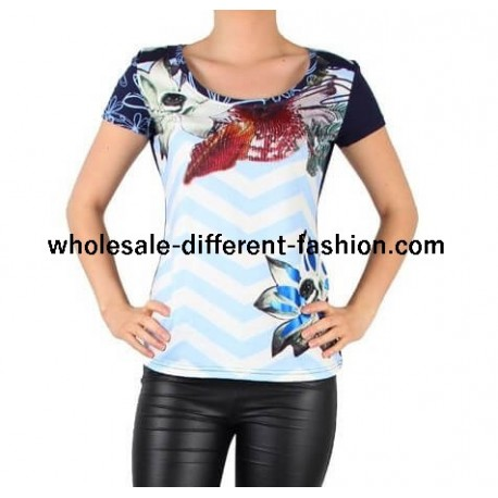 mayorista moda paris camiseta top verano marca 101 idees 8445